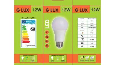 LED Lemputė GR-LED-A60-12W 1250 G.LUX