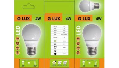 LED Lemputė GR-LED-G50-P-4W 1353 G.LUX