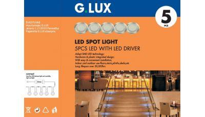 Įmontuojamas šviestuvas LBS-3107-5 LED 5x0,3W 1244 G.LUX