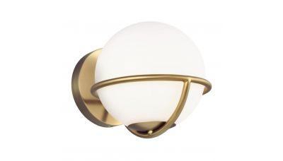 Sieninis šviestuvas Apollo Wall Gold-White QN-APOLLO1-BB Elstead Lighting