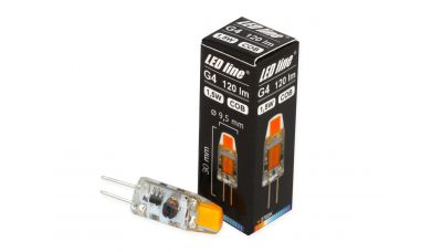 G4 LED lemputė 1.5W COB AC/DC 120lm šiltai balta 248979 LED Line