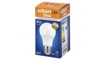 LED Lemputė Oiva LED OP Burbuliukas A60 E27 830 6435200203472 Airam
