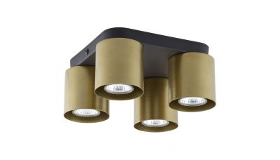 Lubinis šviestuvas Vico Spot IV Square Black-Gold 6511 TK Lighting