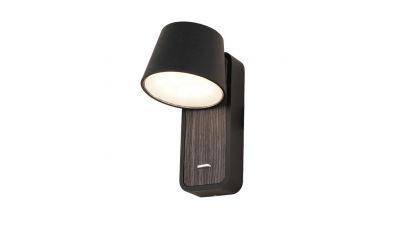 Sieninis šviestuvas Wall Light H61 LED+USB Black-Wood H61 Zambelis Lights